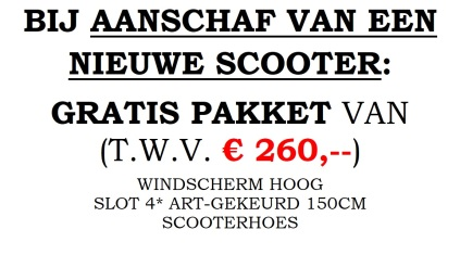 Gratis windscherm slot scooterhoes